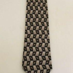 Van Heusen Green and Silver Classic Tie